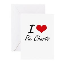 I Love Pie Charts Greeting Cards