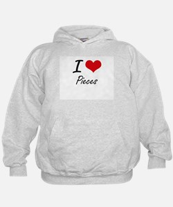 I Love Pieces Hoodie