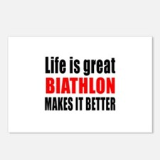 Life is great Biathlon ma Postcards (Package of 8)