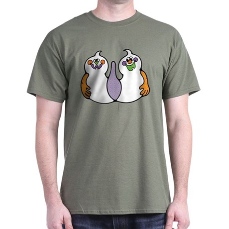 Cute Cartoon Ghost Dark T-Shirt