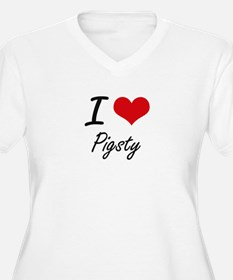 I Love Pigsty Plus Size T-Shirt