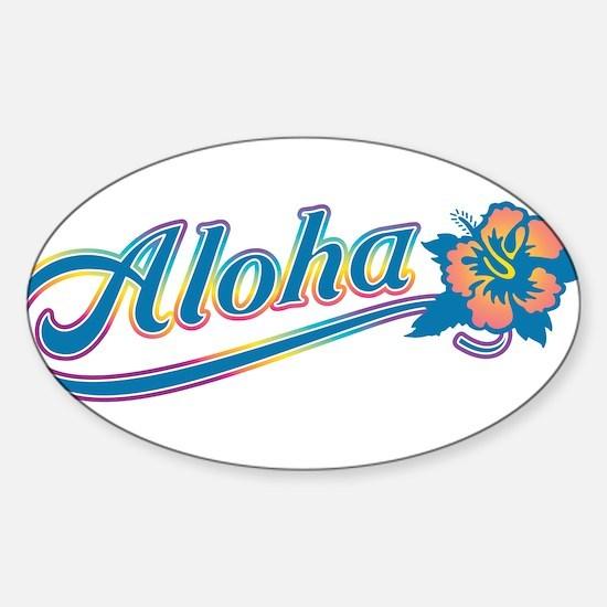 Aloha Rainbow Decal