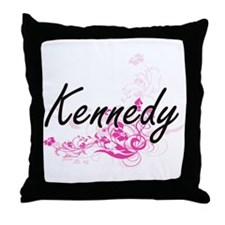 Kennedy surname artistic design with Throw Pillow