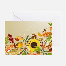 Golden Thanksgiving Greeting Card