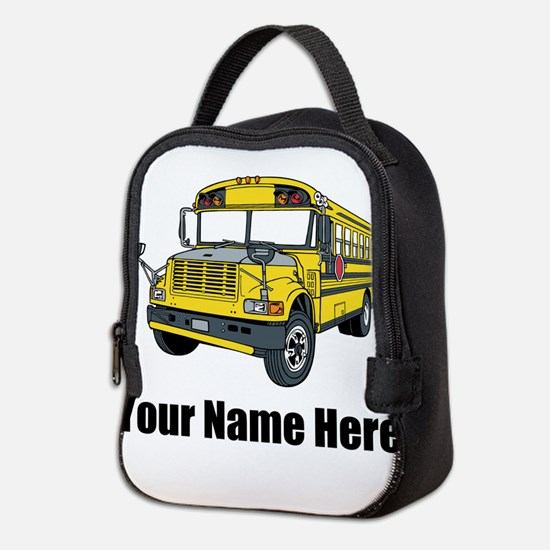 School Bus Neoprene Lunch Bag