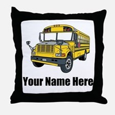 School Bus Throw Pillow