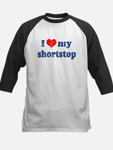 I love my shortstop Kids Baseball Jersey