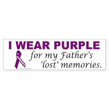 My Father's Lost Memories Bumper Bumper Sticker