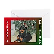 Doberman Festive Cards (Pk of 20)