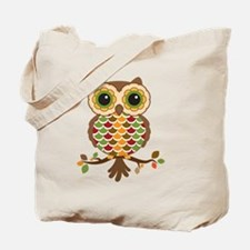 Owl with fall colors Tote Bag