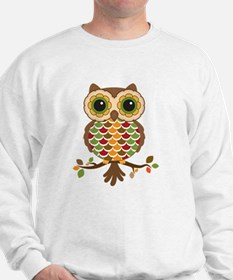 Owl with fall colors Sweatshirt