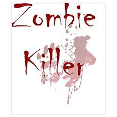 blood splatter zombie killer Poster
