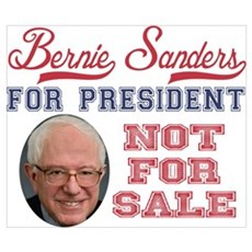 Bernie Sanders NOT for sale Poster