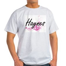 Haynes surname artistic design with Flower T-Shirt