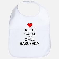 Keep Calm Call Babushka Bib