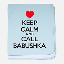 Keep Calm Call Babushka baby blanket