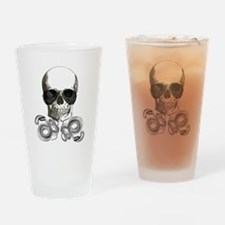 grunge steampunk skeleton skull Drinking Glass