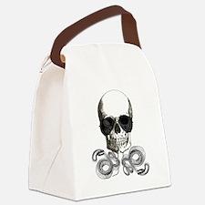 grunge steampunk skeleton skull Canvas Lunch Bag
