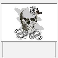Grunge Gothic skeleton skull Yard Sign