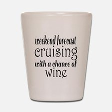 Cruising and Wine Shot Glass