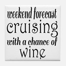 Cruising and Wine Tile Coaster