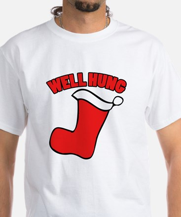 Well hung christmas White T-Shirt