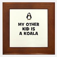 my other kid is a koala Framed Tile