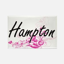Hampton surname artistic design with Flowe Magnets