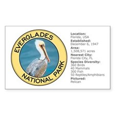 Everglades NP (Pelican) Rectangle Stickers