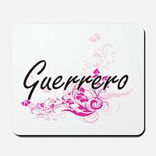 Guerrero surname artistic design with Fl Mousepad