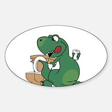 oh crap! t-rex Decal