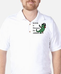 pirate trex Golf Shirt