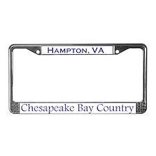 Hampton, Chesapeake Bay License Plate Frame