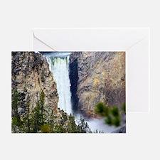 YELLOWSTONE WATERFALL Greeting Card