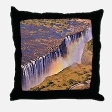 WATERFALL AFRICA ZAMBIA Throw Pillow