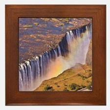 WATERFALL AFRICA ZAMBIA Framed Tile