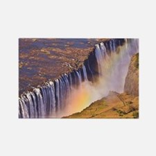 WATERFALL AFRICA ZAMBIA Rectangle Magnet