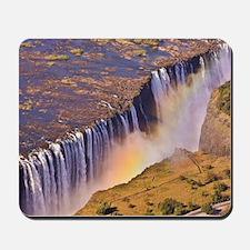 WATERFALL AFRICA ZAMBIA Mousepad