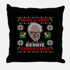 very bernie sanders ugly christmas Throw Pillow
