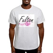 Fulton surname artistic design with Flower T-Shirt