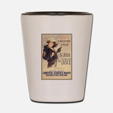 WWI US Navy Gee Girl Shot Glass