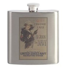 WWI US Navy Gee Girl Flask