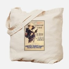 WWI US Navy Gee Girl Tote Bag