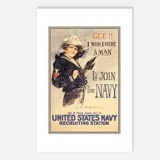 WWI US Navy Gee Girl Postcards (Package of 8)