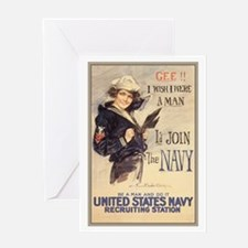 WWI US Navy Gee Girl Greeting Card