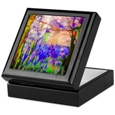 Nature In Stained Glass Keepsake Box