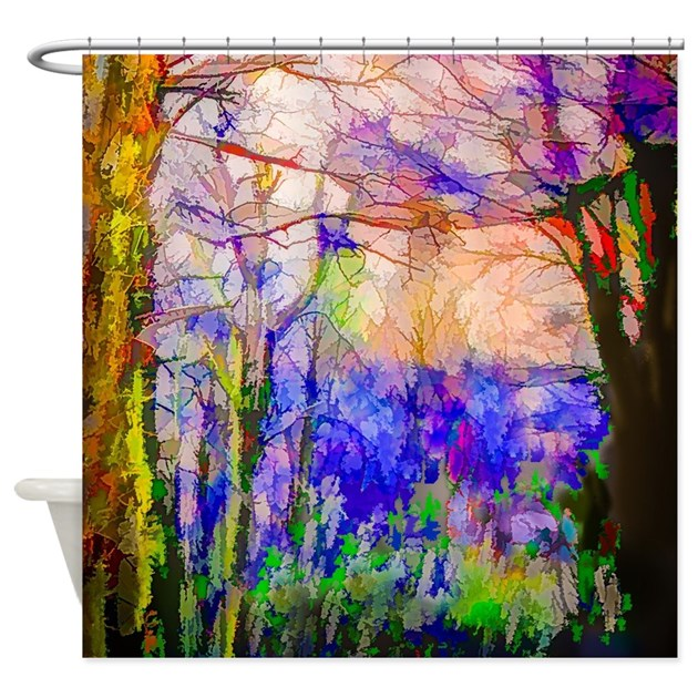Nature In Stained Glass Shower Curtain By Listing Store