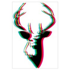 3D Deer - Awesome & Psychadelic Poster