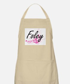 Foley surname artistic design with Flowers Apron