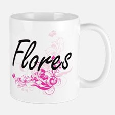 Flores surname artistic design with Flowers Mugs